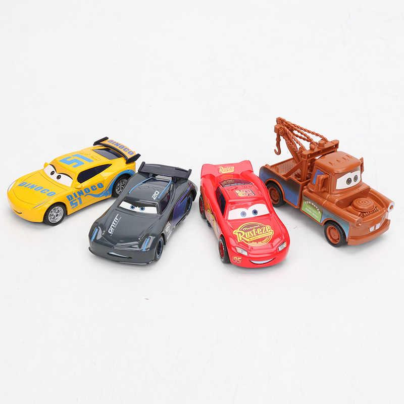 4 шт. 9 см Дисней Pixar тачки 3 игрушки Молния Маккуин матер Джексон шторм Круз Рамирез Смоки литая под давлением металлическая модель автомобиля