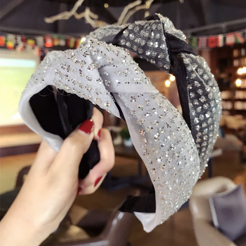 New High Grade Cloth Cross Rhinestone Hairbands Fashion Wide Hoop Headband Hair Accessries for Women Girls Boutique Headdress-in Hair Accessories from Women's Clothing & Accessories on Aliexpress.com | Alibaba Group