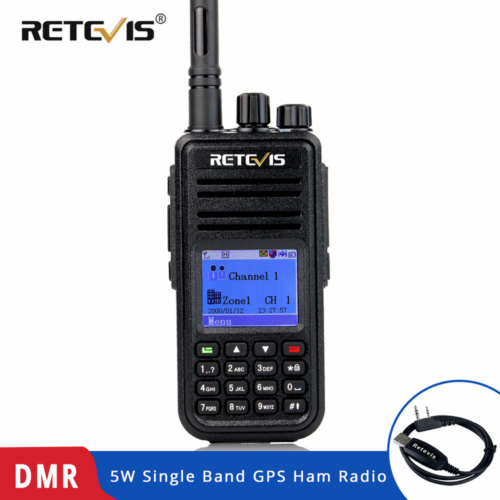 RETEVIS RT3 DMR Digital Radio (GPS) Walkie Talkie UHF (or VHF) Ham Radio Amador Handheld Transceiver Same with TYT MD 380 MD 380