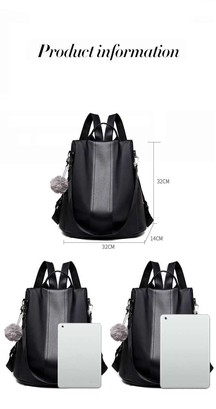 HTB1TnBUafBj uVjSZFpq6A0SXXaJ New Fashion Waterproof Casual Women Backpack Purse Anti-theft Rucksack Mochila Feminina School Shoulder Bag for Teenagers Girls