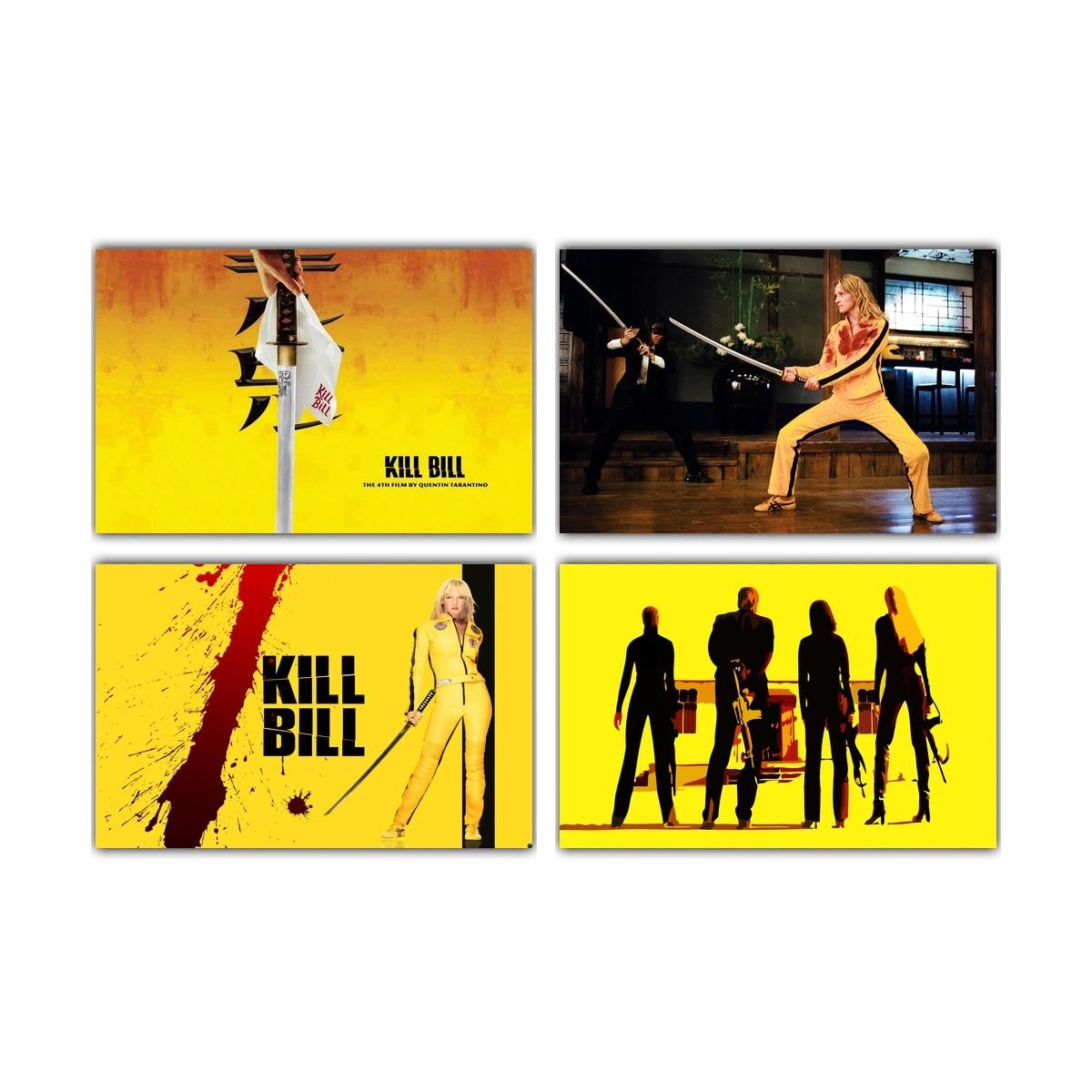 Quentin Tarantino Kill Bill Pulp Fiction Art Movie Paint Wall Art ...