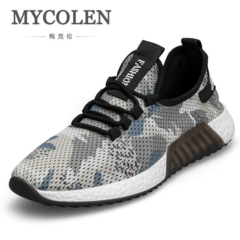 MYCOLEN новые дышащие Для мужчин повседневная обувь Для мужчин модные кроссовки с высоким берцем Сверхлегкий для Для мужчин Туфли без каблуков