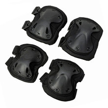 Tactical Airsoft Protective 1 Pair knee pads + elbow Protector Gear Sports Hunting Shooting Pads