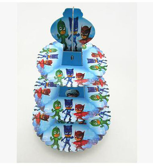 PJmasks paper 3 tier cupcake stand holder birthday party decoration