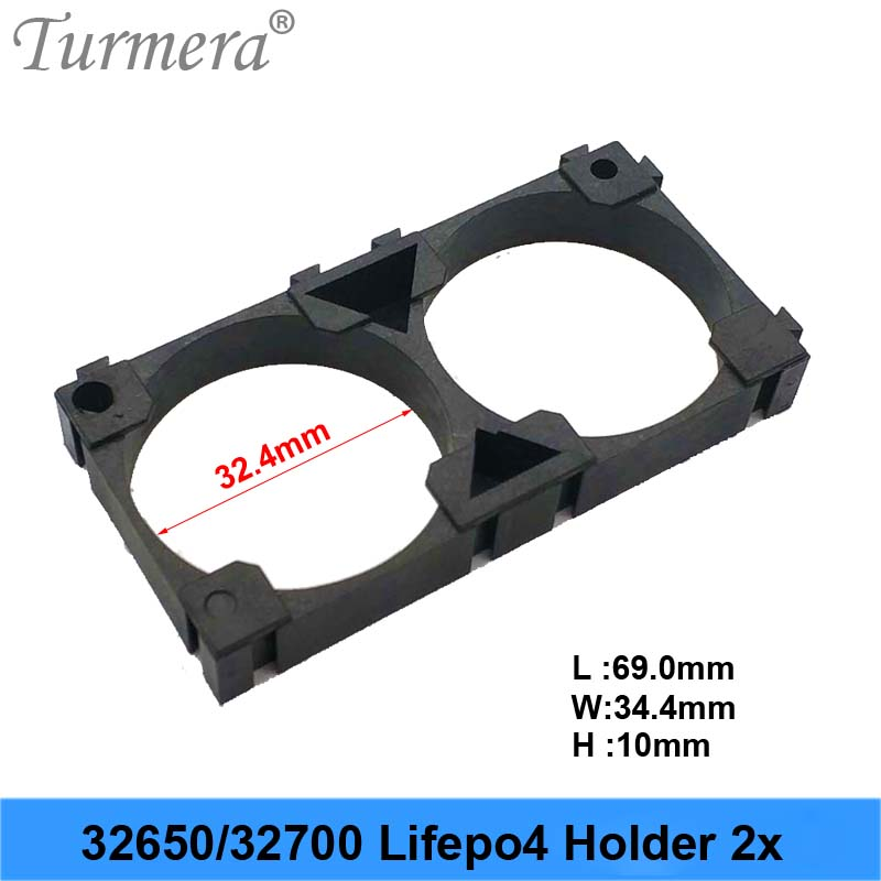 Turmera new <font><b>32650</b></font> 32700 2x 3x <font><b>Battery</b></font> <font><b>Holder</b></font> Cell Safety Anti Vibration Plastic <font><b>Brackets</b></font> For <font><b>32650</b></font> 32700 <font><b>battery</b></font> pack JU02 image