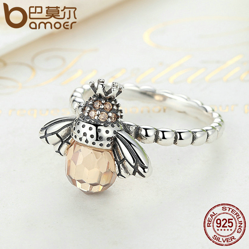 Bamoer 100% authentisch 925 sterling silber orange flügel tier biene - Modeschmuck - Foto 5