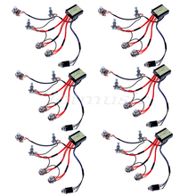 6Sets Belcat Active EQ EQ-B3T Preamp Circuit For Active Bass Guitar Pickup Parts Replacement