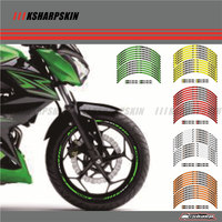 12 X Thick Edge Outer Rim Sticker Stripe Wheel Decals FIT ALL Kawasaki Z300
