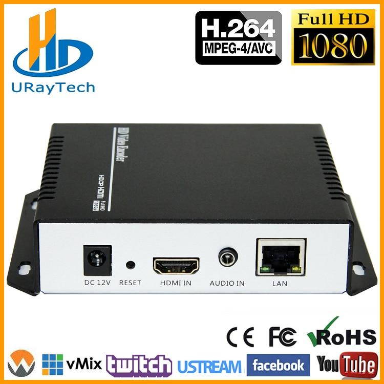 Encodeur vidéo de diffusion en direct URay MPEG4 HDMI vers IP encodeur H.264 RTMP encodeur HDMI IPTV H264 avec HLS HTTP RTSP UDP