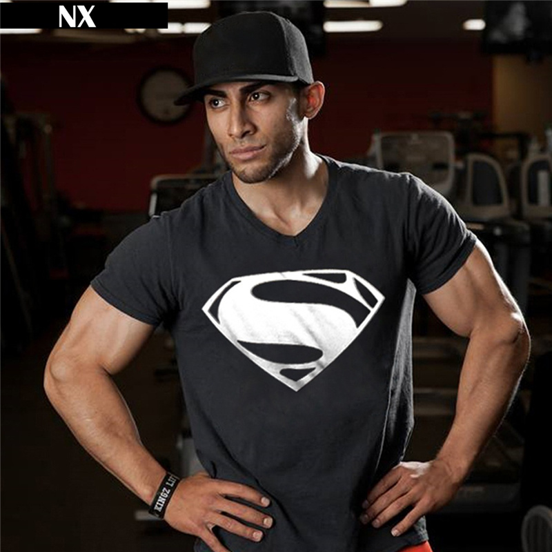 Hot Sale Superman Tryckta T-shirts Men-Kompression T-shirts Slim Fit - Herrkläder - Foto 4