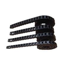 купить 10*20 15*30 10*10 7*15mm CNC Cable Drag Tank Chain DIY Engraving Part Tools Bridge Type Non-Opening Plastic Towline дешево