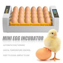 Практичный 24 яйца большой емкости мини инкубатор для курицы птицы перепелиных яиц индейки домашнего использования автоматический поворот яиц