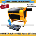 Gravura do laser 600*400mm 80 W Co2 Máquina de Corte A Laser com Favo De Mel Specifical para a Madeira Compensada/Acrílico/madeira/Couro Navio Livre