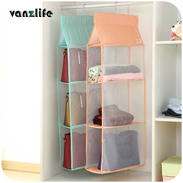 Vanzlife Wardrobe Closet Transparent Multilayer Washable Clothes Storage  Hanging Storage Bag