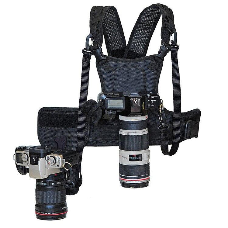 Carrier II Multi Dual 2 Macchina Fotografica Di Trasporto Petto Sistema Di Cablaggio Della Maglia Cinghia Rapida Con Il Lato Della Custodia Per Armi Per Canon Nikon Sony Pentax DSLR