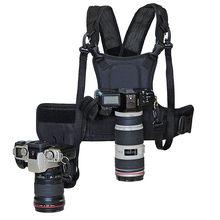 Carrier II-sistema de arnés de pecho para cámara Dual 2, chaleco de correa rápida con funda lateral para Canon, Nikon, Sony, Pentax, DSLR