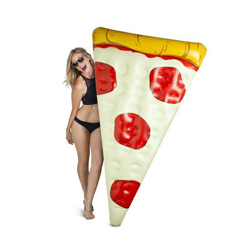 RCtown PVC Pizza forme Overwater gonflé flottant rangée radeau Mat flottant bateau lit d'eau été plage fournitures jouet D30