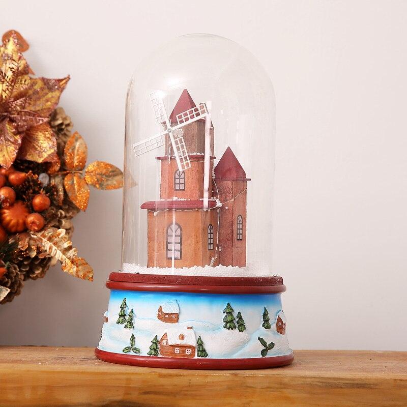 Hot Selling Nieuwste 2019 Kerstcadeautjes met Muziek Lichten Drijvende Sneeuw Glas Cover Romantische Kerstavond Gift Pakket Mail - 4