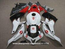 100% подходит для инъекций обтекатели для Honda CBR600RR 07 08 белый красный черный кузов обтекателя комплект CBR 600RR 2007 2008 42NT