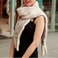 women winter Real mink Fur Scarf Good quality knitted wrap cape  Neck Warmer Poncho Fur Shawl genuine mink fur scarf TFP602