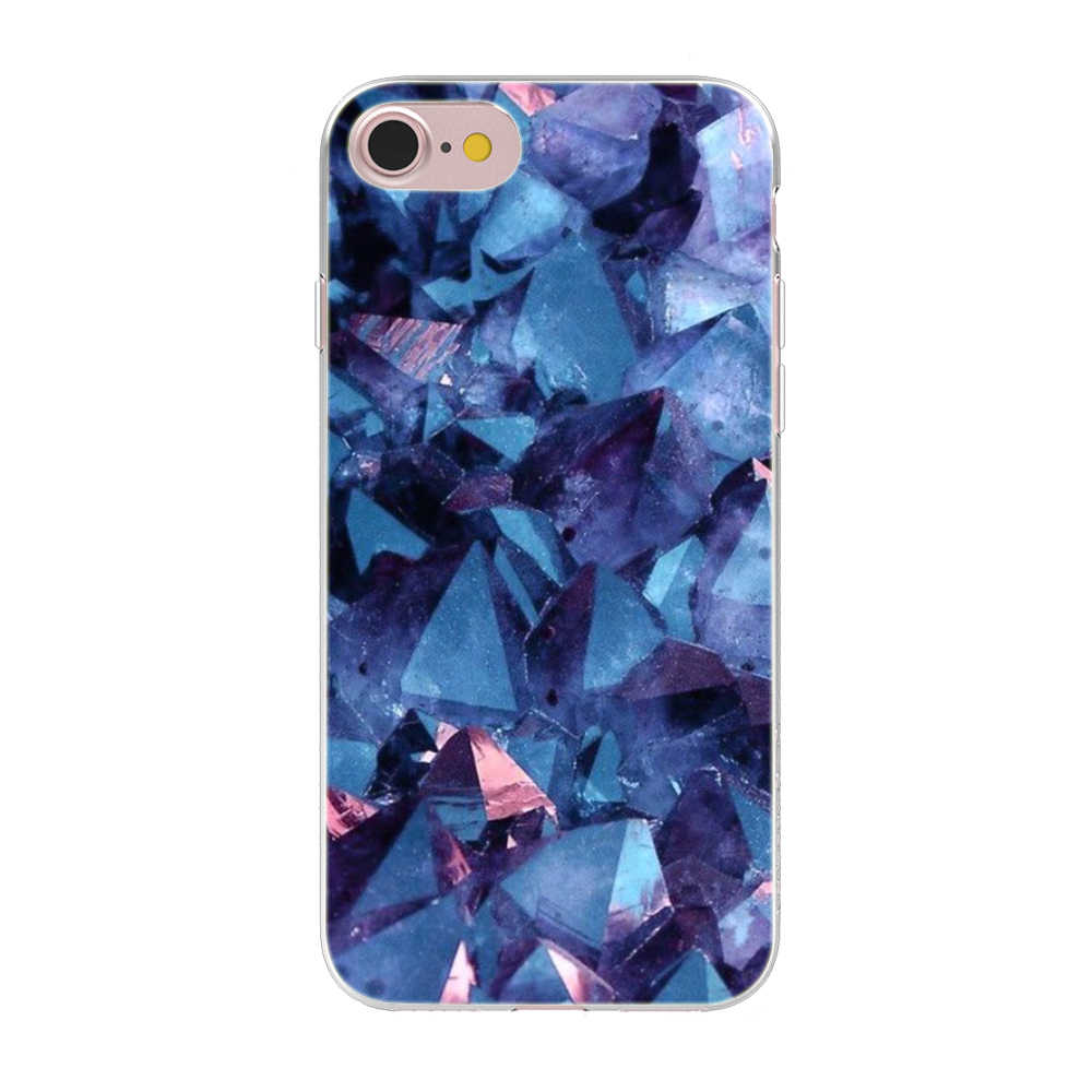 Untuk iPhone 7 8 X Max XR X Kasus Retak Batu Marmer Phone Case untuk iPhone 5 5S SE 6 6S 7 8 Plus X Soft silicone Case