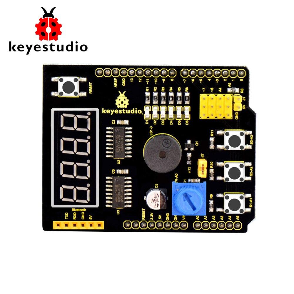 ¡Envío Gratis! Keyestudio escudo multiusos V2 W/caja de regalo para Arduino starter Pala multiusos para exteriores, herramientas de jardín, pala plegable militar, herramientas de seguridad para defensa y acampada