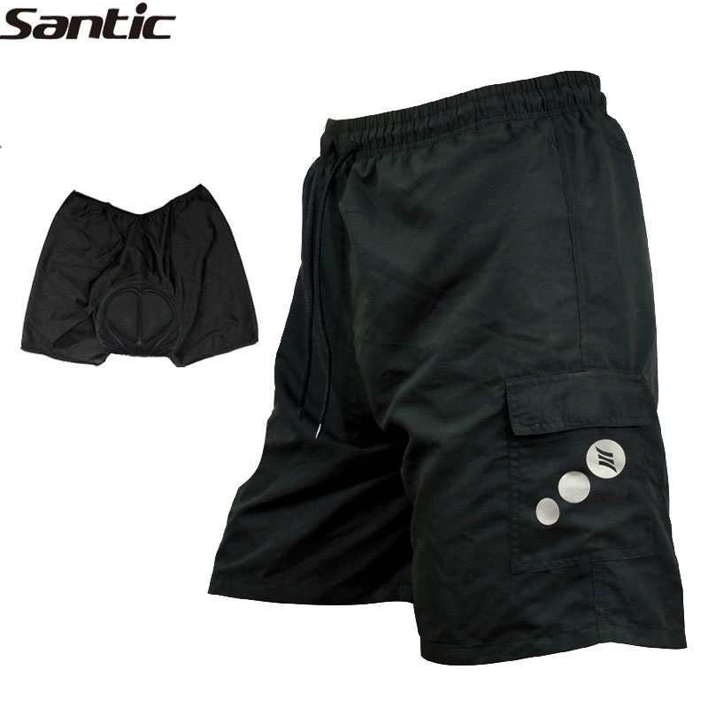 Santic MTB Road Men's Cycling Loose Shorts Mountain Bike/Bicycle Leisure Baggy 3D Padded Thickening Sports Cycle Wear 7 Sizes
