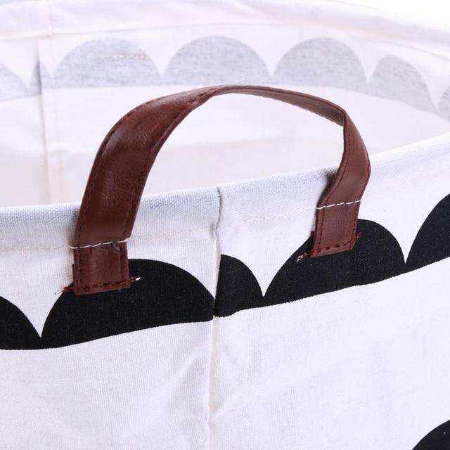 Large Fabric Basket Organizer – Black&White Patterns