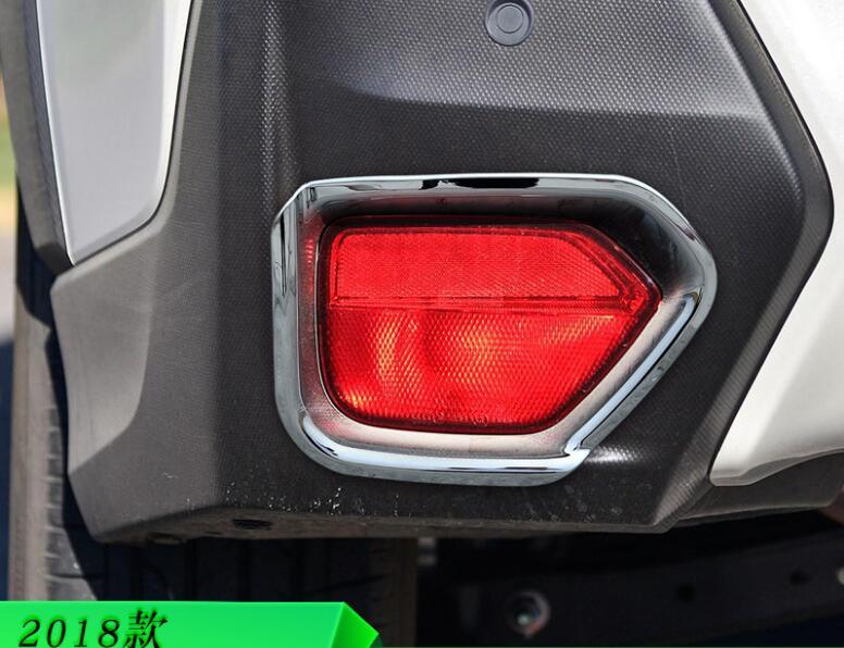 2 Pcs Luxuriöse ABS Chrom Auto Hinten Nebel Licht Lampe Abdeckung Trimmt Für SUBARU XV 2018 Auto Styling Auto Zubehör
