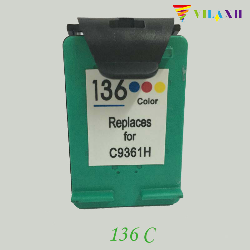 vilaxh 136 Compatible Ink Cartridge Replacement For HP 136 Photosmart C3183  2573 D5163 Deskjet 5443 D4163 PSC 1513 1513s Printer f1fb6b752dbe