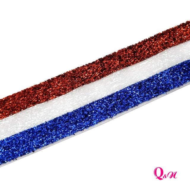 Q & N-ruban Tricolor pailleté 1.5 pouces 38mm   Sangle pour bandeau nœud à cheveux, décoration de noël, livraison gratuite