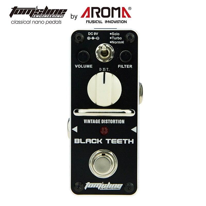 Distortion Pedal Guitar Effect Black Teeth Warm Smooth Wide Range Vintage Effect Sound 3 Versions of Proco Rat Distorti