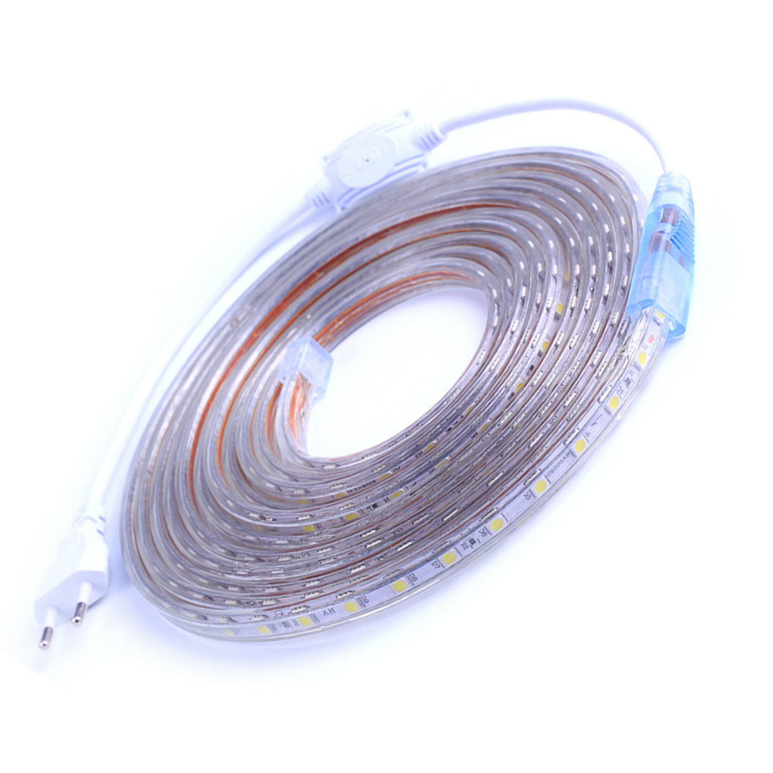 AC220V 60leds/m Waterproof Flexible LED Strip Light IP67 LED Tape LED Light With EU Power Plug