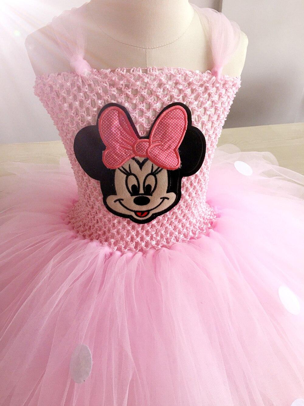 Minnie Mouse Dress Girl Kids Minnie Cartoon Cosplay Knee Length Tutu ...