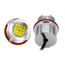 SKYJOYCE Car Light LED Marker Kit E39 80W LED Angel Eyes High Brightness 6500K White E39 E60 E53 E63 E83 E87 LED Hole Ring Light
