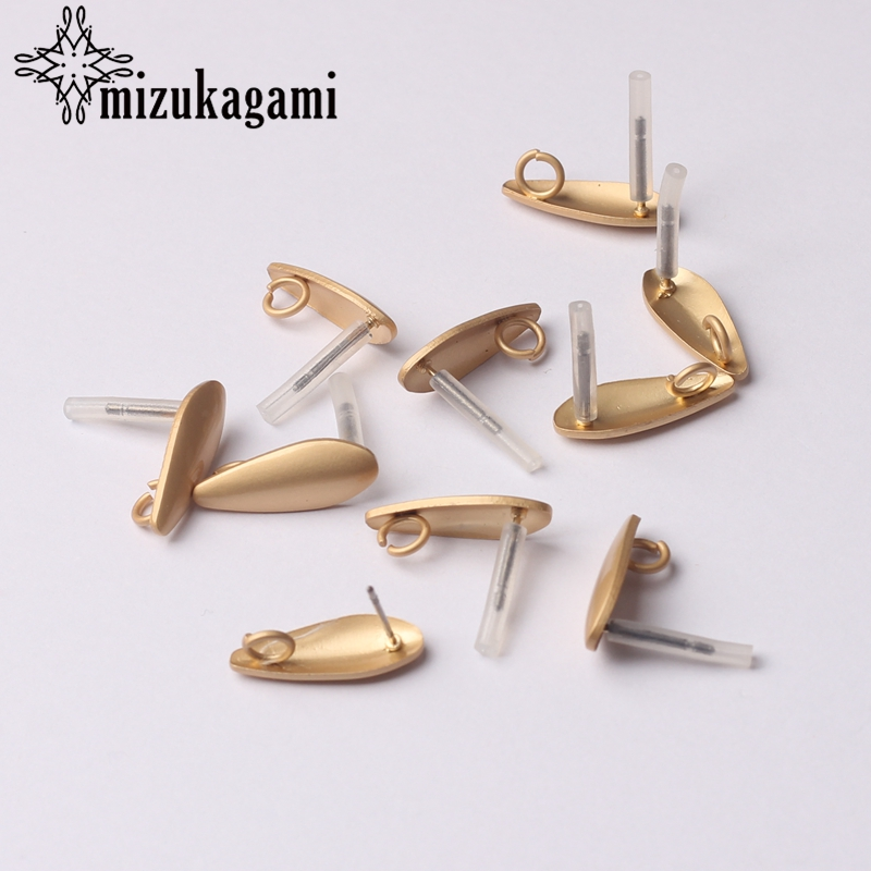 Earrings Jewelry Making Accessories Golden Zinc Alloy Water Drop Earrings Base Connectors Linker 6pcs/lot 7*18mm For DIY