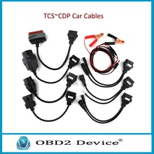 Christmas promotions 8 pcs Car Cable Full Set for tcs cdp pro plus/MVD/WOW/Kess Auto Diagnostic interface Car cables free ship