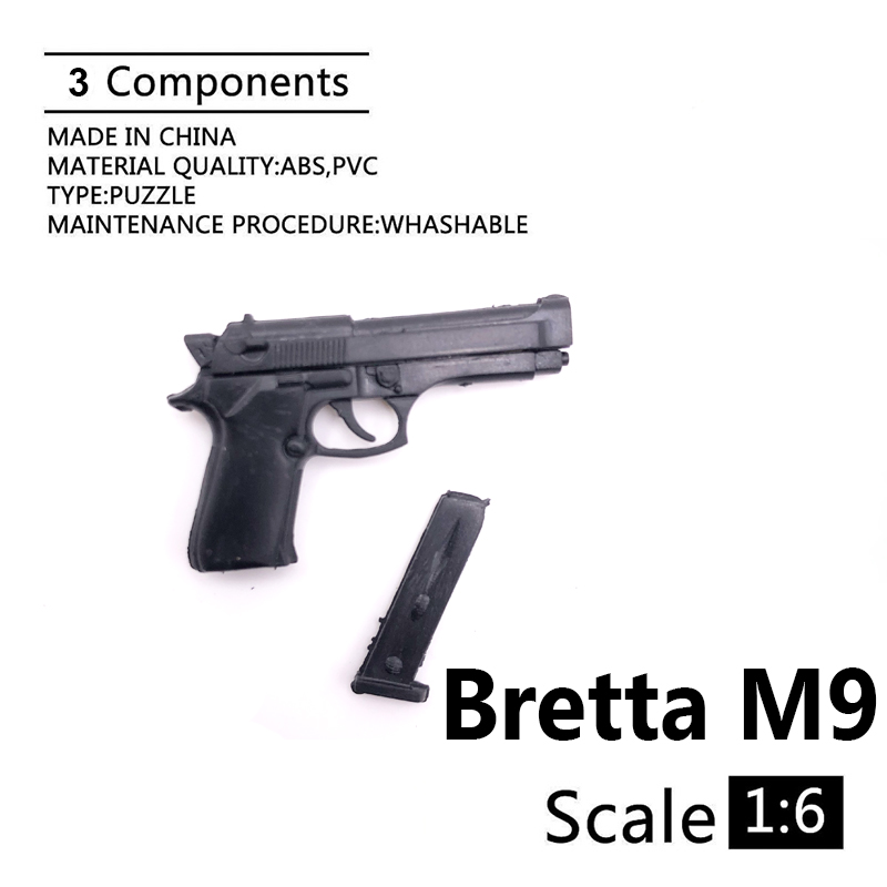 1:6 Bretta M9 4D Gun Model For 12