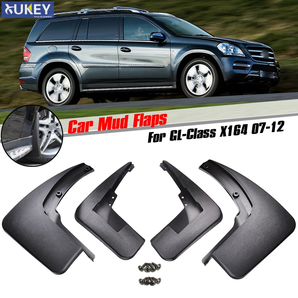 Accessories Set Molded Mud Flap Flaps For Benz GL Class X164 GL450 GL350 2007 2012 Mudflaps