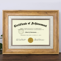 A4 Certificate Frame Wall Hanging A3 Medal Photo Frame License Authorization Trademark Registration Certificate Pictures Frames