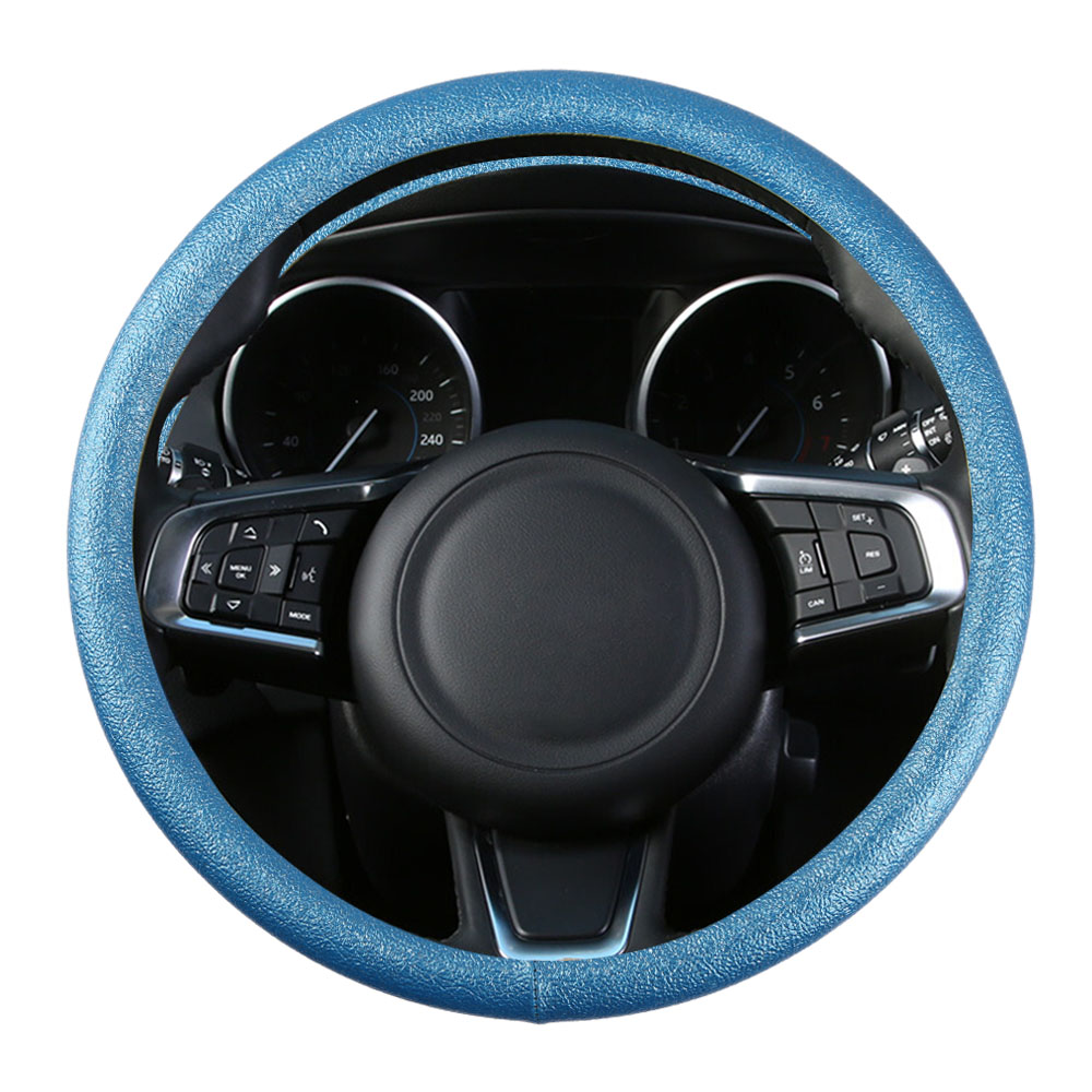 FLY5D Faux Leather Car Sport Steering Wheel Cover 38CM Paillette Durable Auto Steering Covers Automobile Decoration Universal