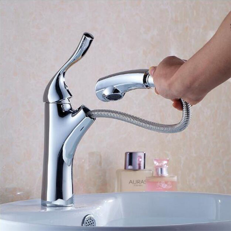 Modern brass pull out laundry faucet basin faucet water