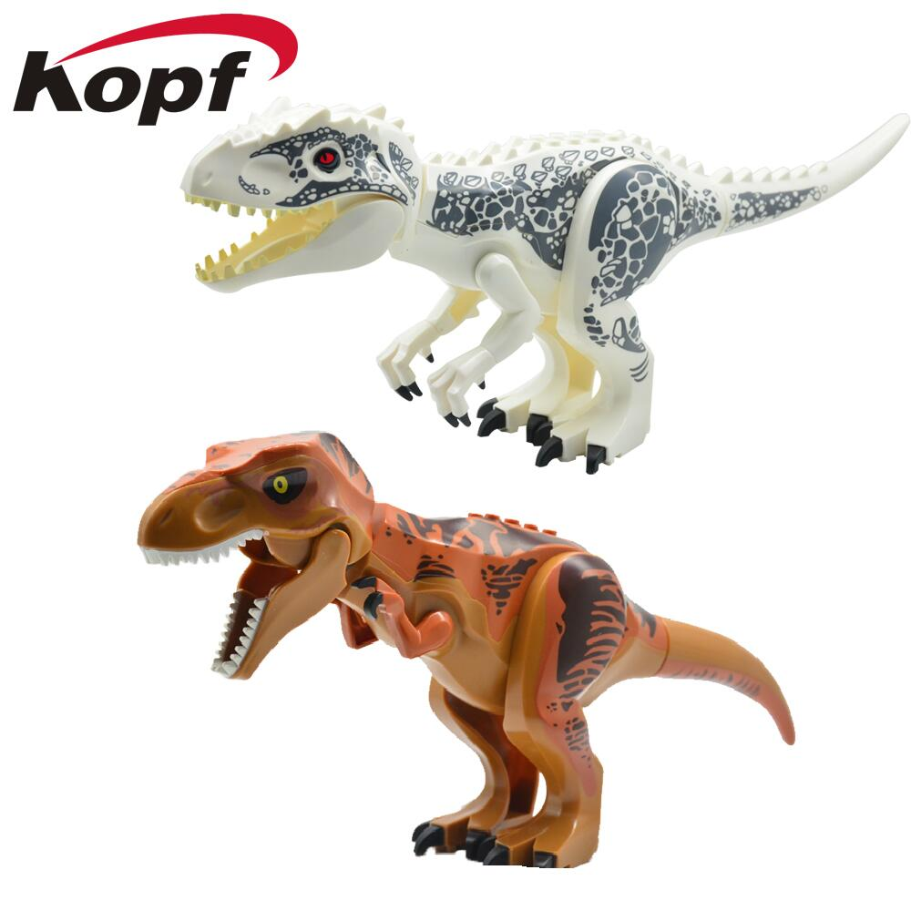 Super Heroes Star Wars Dinosaur Jurassic World Park Tyrannosaurus Bricks Model Building Blocks Toys For Children KF911 KF912 building blocks super heroes back to the future doc brown and marty mcfly with skateboard wolverine toys for children gift kf197