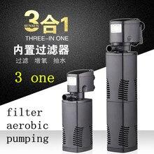 цена на Multifunction aquarium fish tank filter pump oxygen Model JP-022F Voltage 220V power 16W head 1.3m flow 1000L / h