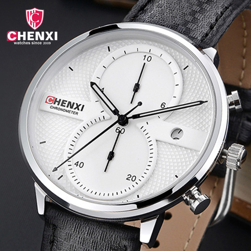 Fashion Men's Quartz Watches Top Brand Luxury Men Watch Leather Strap Wristwatches Calendar Male Gift Clock Relogio Masculino men luxury automatic mechanical watch fashion calendar waterproof watches men top brand stainless steel wristwatches clock gift