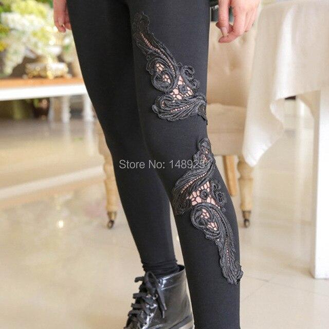 7ce6a504f4ea0 Nouveau Mode Imprimé Fleur Solid Slim Leggings Femmes Fitness Tricoté  Occasionnel Legging 8 Couleur Pas Cher