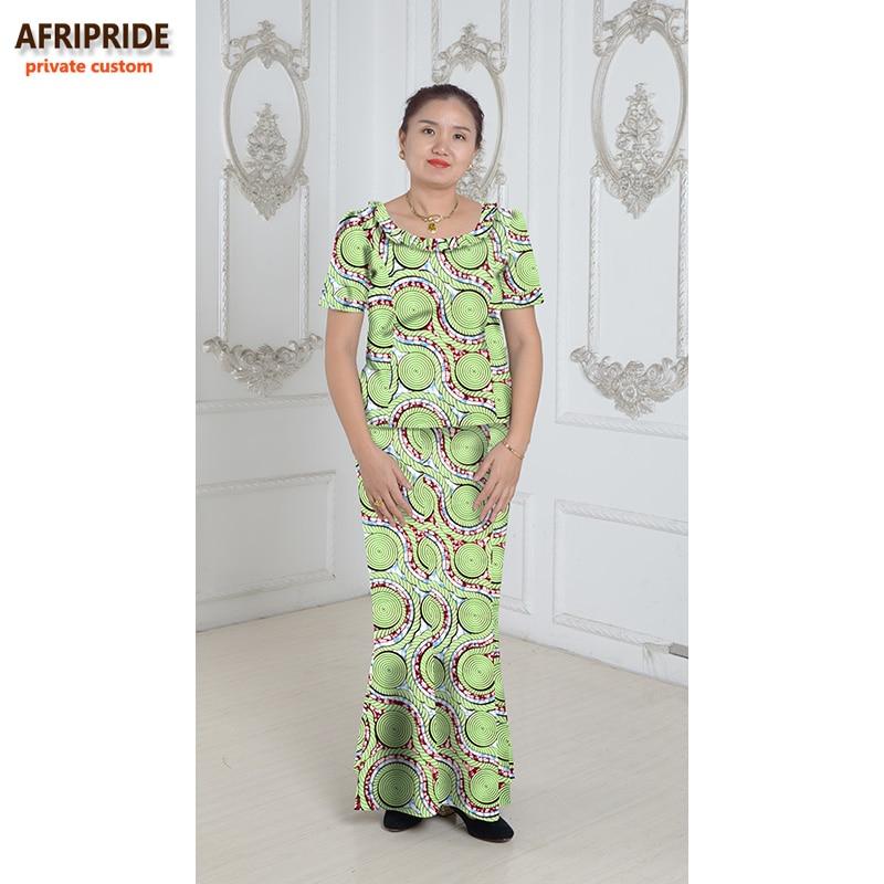Gaya tradisional Afrika 2 keping skirt ditetapkan untuk wanita - Pakaian kebangsaan - Foto 4
