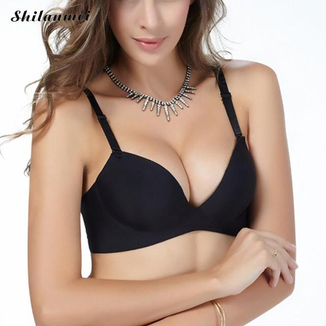 24e1d9b707 Super Push Up Women Bra Sexy Brassiere Underwear Seamless Bras for Women  Sutian Big Size Cup Bralette 44 Xxx 100c Black Bra Lady