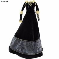Yüksek Kaliteli Peri Masalı Elbise Kopya Cesur Merida Kıyafet Siyah Uzun Kollu Giysi Için 17