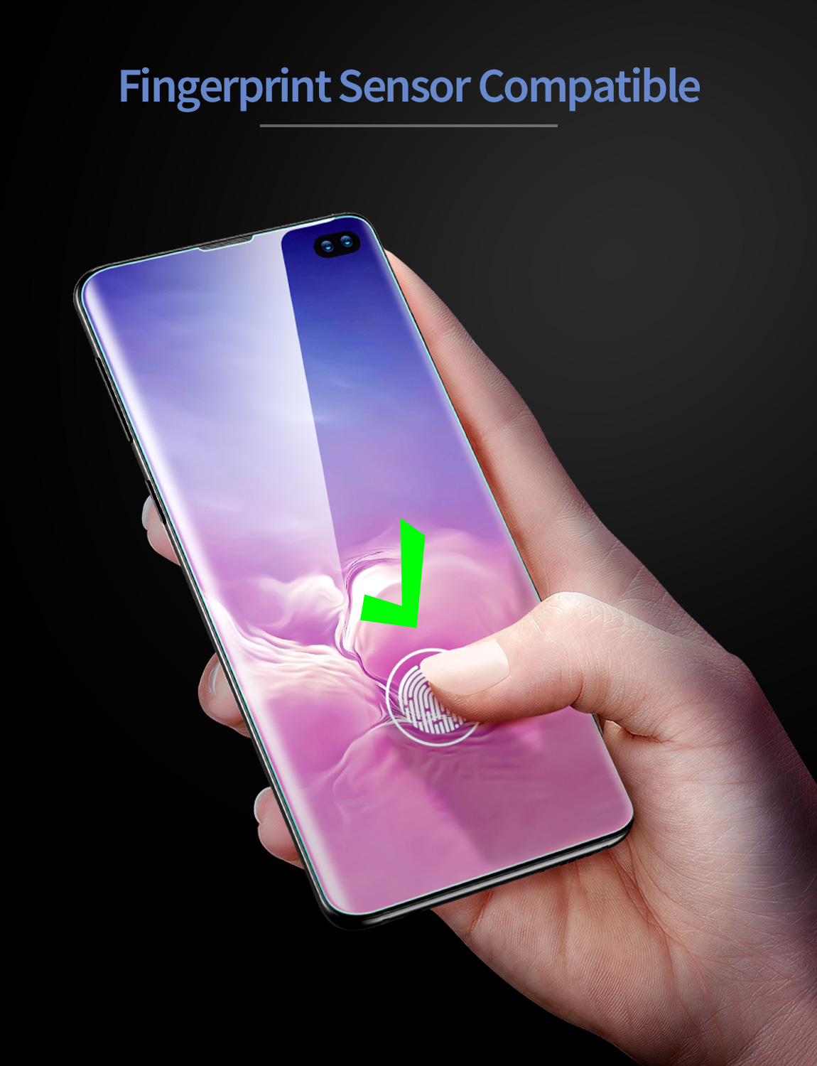5c286fe5395 2pcs/lot ESR Screen Protector for Samsung Galaxy S10 Full Coverage Soft TPU  Crystal Clear